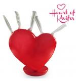 Jeu de Couteaux avec Support en forme de Cœur Heart of Knives