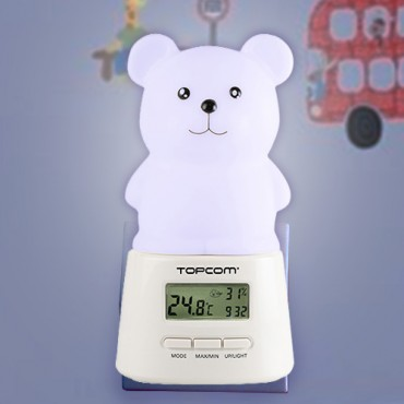 Veilleuse LED Enfant avec Horloge TopCom KL4330